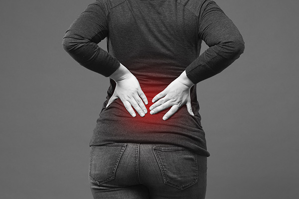 image of patient suffering with back pain